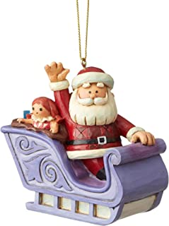 Enesco Santa in Sleigh Ornament