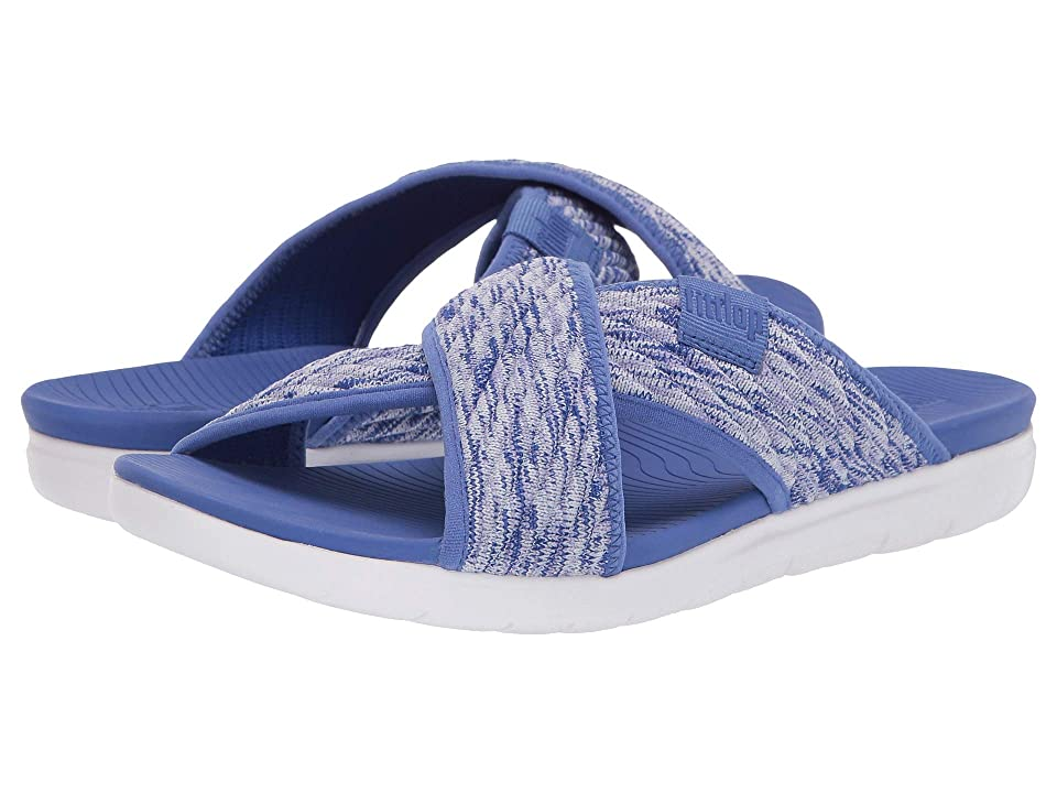 ac31f812a FitFlop Artknit Cross Slide (Illusion Blue) Women