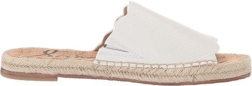 Bright White Botalatto Tumbled Leather