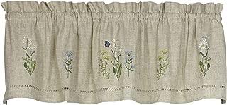 Snapshots Daisy Embroidered Curtain Valance, 58