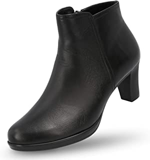 Leather Booties for Women - Women's Heeled Ankle Boots Classic Bootie with Heel - Maya Boot