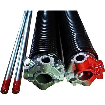 Spring Length 30 Winding Rod Options Steel Bearing with Winding Rods Center Bearing Options Garage Door Torsion Springs .234 X 2 Pair