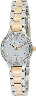 CITIZEN Womens Quartz Dress Watch, Analog and Stainless Steel- EZ7016-50D