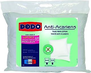 Do Wrap Performance Headwear Dodo–Juego de 2Almohadas rectangulares antiácaros Color Blanco 50x 70cm