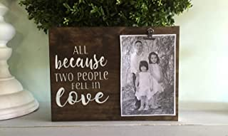 Modern Framed Prints Wall Artwork Wooden Wall Art Bestauseller All Because Two People Fell in Love, Picture Frame, Photo D...