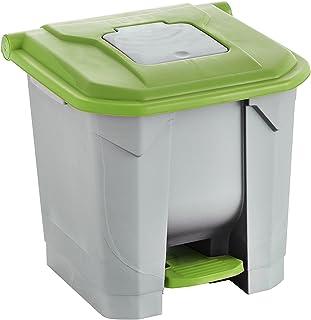 Maya Professional Tools 09107/Set Waste Bin and Toilet Brush Stone Green