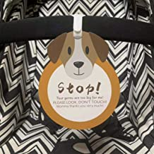 Puppy-Stop,Please Look,Don't Touch Baby Sign Tag (Girl Sign, Newborn, Baby Car Seat Tag, Baby Bed Tag,Stroller Tag, Carrycot Basket Tag,Baby Preemie No Touching Car Seat Sign Tag) W/Hanging Straps