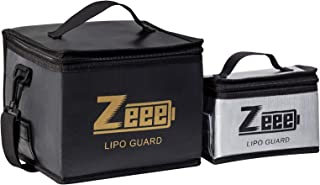 Sponsored Ad - Zeee Lipo Bag Fireproof Battery Safe Bag Explosionproof Bag Lipo Battery Storage Guard Safe Pouch for Charg...