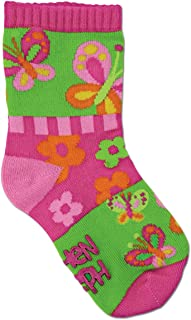 Stephen Joseph, Calcetines de Niña - Mariposas Color Rosa y Verde Talla S