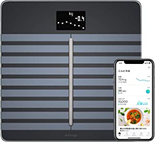 Withings WBS04 Body Cardio Heart Health and Body Composition Wi-Fi Scale, Black
