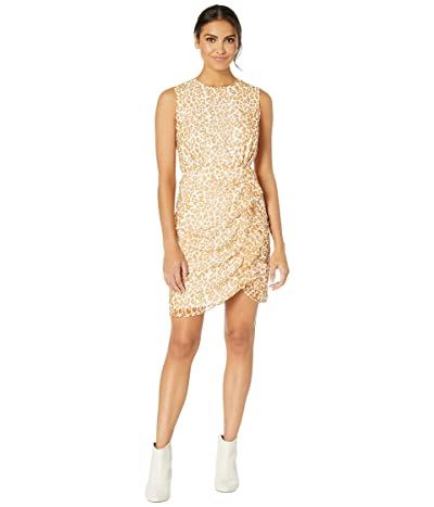 Sam Edelman Side Ruffle Short Dress (Yellow Multi) Women
