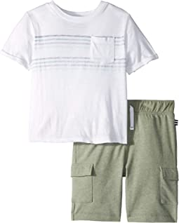 Racing Stripe Pocket Tee Set (Toddler/Little Kids/Big Kids)