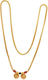 Radha's Creations Golden Mangalsutra Length 30.00 inches for Women No.389
