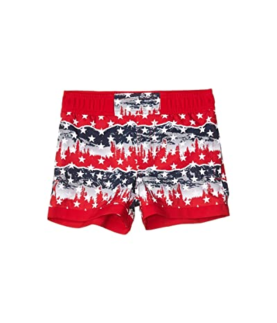 Columbia Kids Sandy Shorestm Boardshorts (Toddler) (Mountain Red Outdoor Pride) Boy
