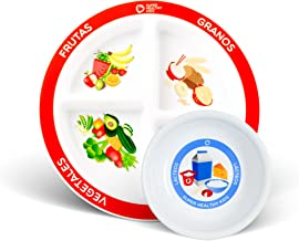 SPANISH Choose MyPlate for Kids Four Section and Kids Dairy Bowl