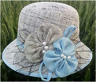 HongJie Hou Hat Visor, Bonnet, Sunscreen Fashion (Color : Grey)