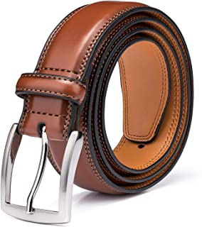 Men's Genuine Leather Dress Belts Made with Premium Quality - Classic and Fashion Design for Work Business and Casual