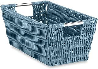 Whitmor Rattique Small Shelf Tote Blue