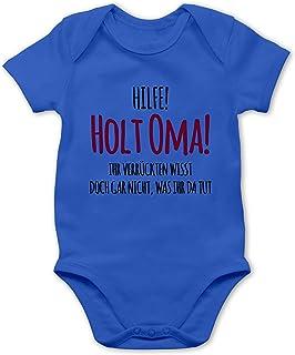 Shirtracer Sprüche Baby - Hilfe Holt Oma - Baby Body Kurzarm für Jungen und Mädchen