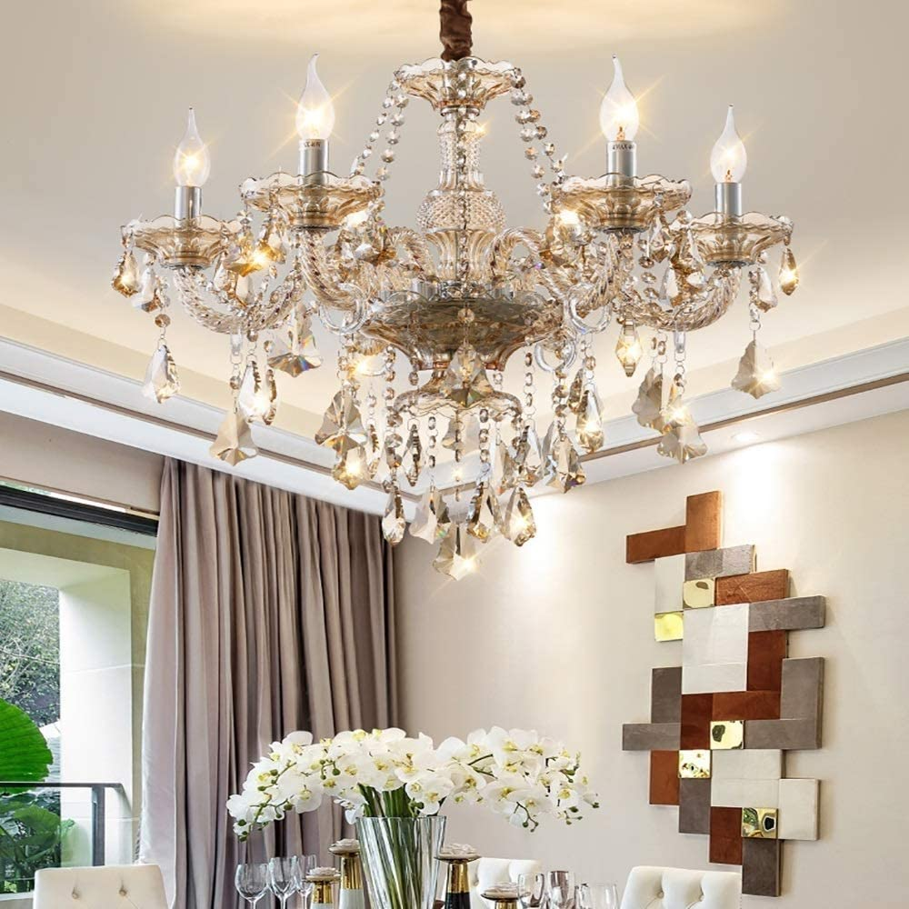 We OFFer at cheap prices Ranking TOP18 Kactera 8-Lights European Luxurious Crystal Chandelier K9 Candle
