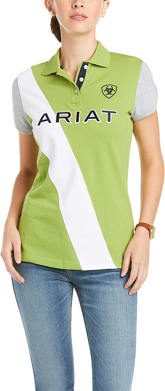 Peridot ARIAT Taryn Womens Short Sleeved Polo Shirt