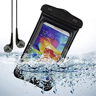 eBigValue Waterproof Case for Alcatel U5, A5, A3, A3 XL, One Touch Pixi 4 Plus Power, Fierce 4, Shine Lite, Pop 4 (6), Tru, PIXI 4 (5), Flash Plus 2 Come with a Deluxe Stereo Headset