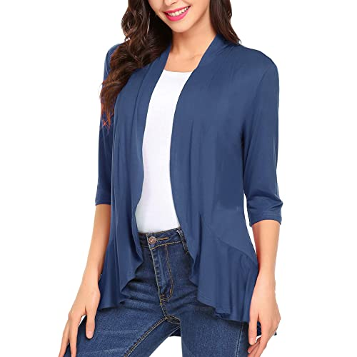 Style /& Co Plus Size Ruffled-Sleeve Open-Front Cardigan