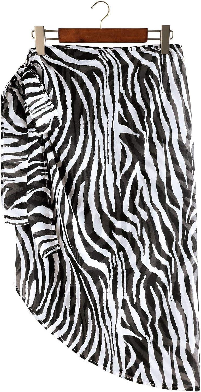 RKSTN Women Beach Wrap Bikinis Wraps Short Sarongs Chiffon Cover Ups for Swimwear Swimsuit Beachwear