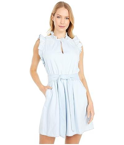 Kate Spade New York Denim Ruffle Dress (Indigo) Women