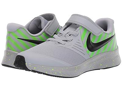 Nike Kids Star Runner 2 Sport (Little Kid) (Wolf Grey/Black/Electric Green) Kids Shoes