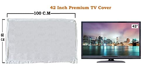 "LED Tv Cover 42"" Master Piece LED/LCD T.v Cover White….by Woolf"