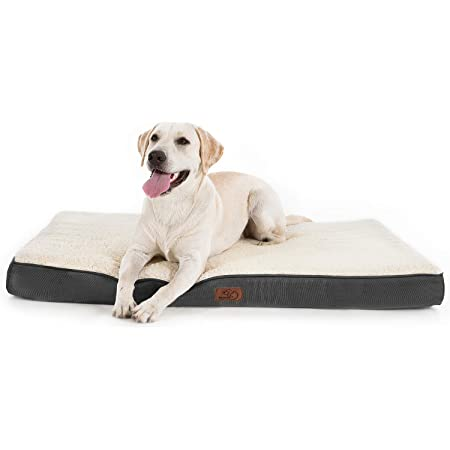 Bedsure Extra Large Dog Bed for Large Dogs Cats Up to 100lbs - Orthopedic XL Dog Beds with Removable Washable Cover, Egg Crate Foam Pet Bed Mat, Grey
