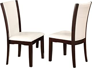 Crown Mark Camelia Side Chair White - Set of 2