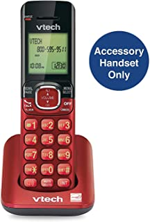 VTech CS6509-16 Accessory Cordless Handset, Red | Requires A CS6519, CS6528, Or CS6529 Series Cordless Phone System to Operate