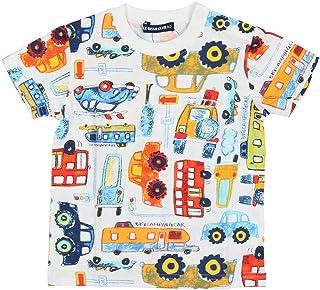 【子供服】 Little Bear Club (リトルベアークラブ) 日本製車柄総柄プリントTシャツ 80cm~130cm S30885