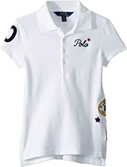Patchwork Stretch Piqué Polo (Little Kids/Big Kids)