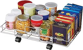 Flat Rolling Floor Shelf Metal Storage Cart - Expandable to 24