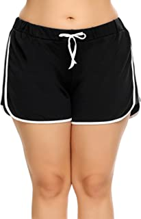 Women Dolphin Shorts Plus Size Running Short for Workout Gym Sports Active Yoga