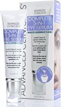 Advanced Clinicals 5-in-1 Multi Correction Anti-Aging Eye Serum w/Retinol, Collagen, Vitamin C, Manuka Honey. For dark circles, wrinkles, crow's feet, fine lines. Large 2oz (2oz)