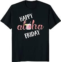 Happy Aloha Friday Shirt Hawaiian Mai Tai Pink Drink Retro T