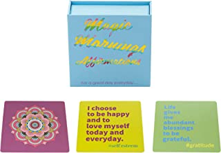 MandAlimited Magic Mornings 50 Affirmations - Cards, Motivational & Encouragement cards with Guidebook