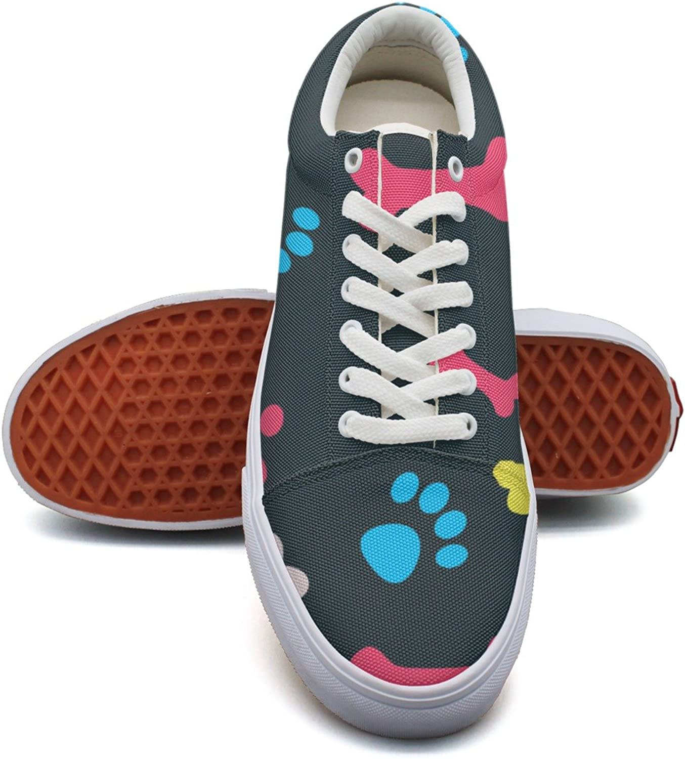 Cool Pet Background Dog Paw Women's Casual shoes Flat Sports Spring Comfortable