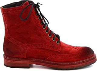 LEONARDO SHOES Luxury Fashion Womens 5314RED Red Ankle Boots | Fall Winter 19
