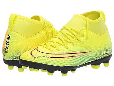 Nike Kids JR Superfly 7 Club MDS FG/MG Soccer (Little Kid/Big Kid) (Venom Lemon/Black/Aurora Green) Kids Shoes
