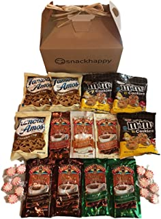 Hot Cocoa & Cookies Care Package features attractive Kraft Gift Box stuffed w/ cocoa, cookies, peppermint candy