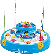 ESnipe Mart® Fishng Fish-Catching Game Big with 26 Fishes and 4 Pods, Includes Music and Lights (Mix Color)