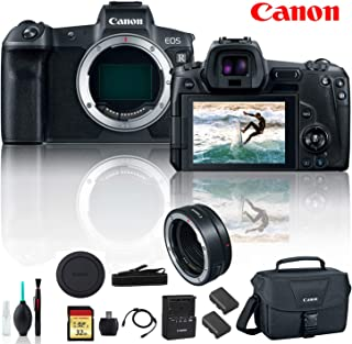 Canon EOS R Mirrorless Digital Camera 3075C002 with Extra Battery, Canon EF Mount Adapter, Canon Bag, 32GB Memory Card and More - Starter Bundle
