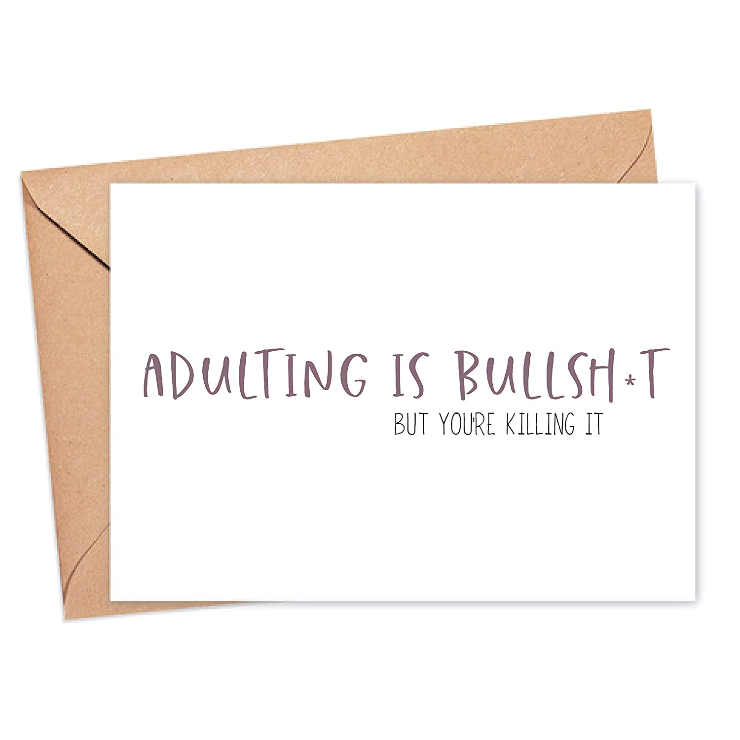 Motivation Card Daily bargain sale - Sale Special Price Adulting is Bullshit It Killing But are You