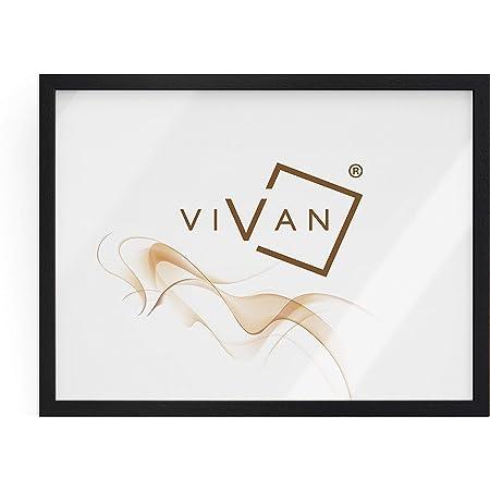 Vivan Riquadro Cadre en bois, noir mat, format image 50 x 70 cm