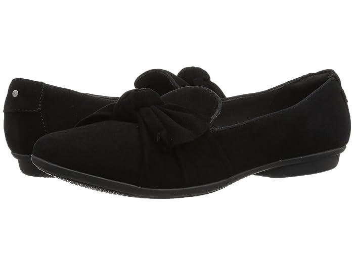 1950s Style Shoes | Heels, Flats, Saddle Shoes Clarks Gracelin Jonas Black Suede Womens  Shoes $70.00 AT vintagedancer.com